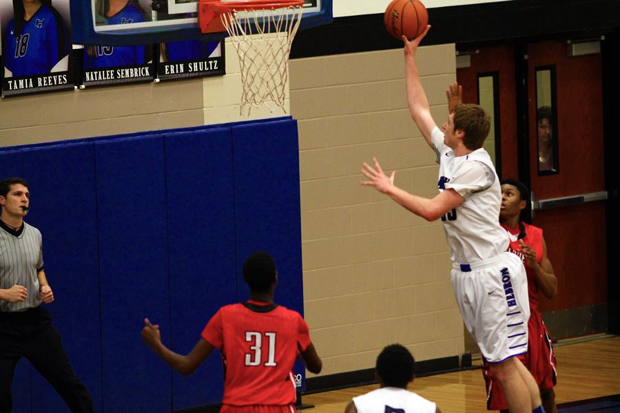 McClenaghan goes up for an uncontested layup