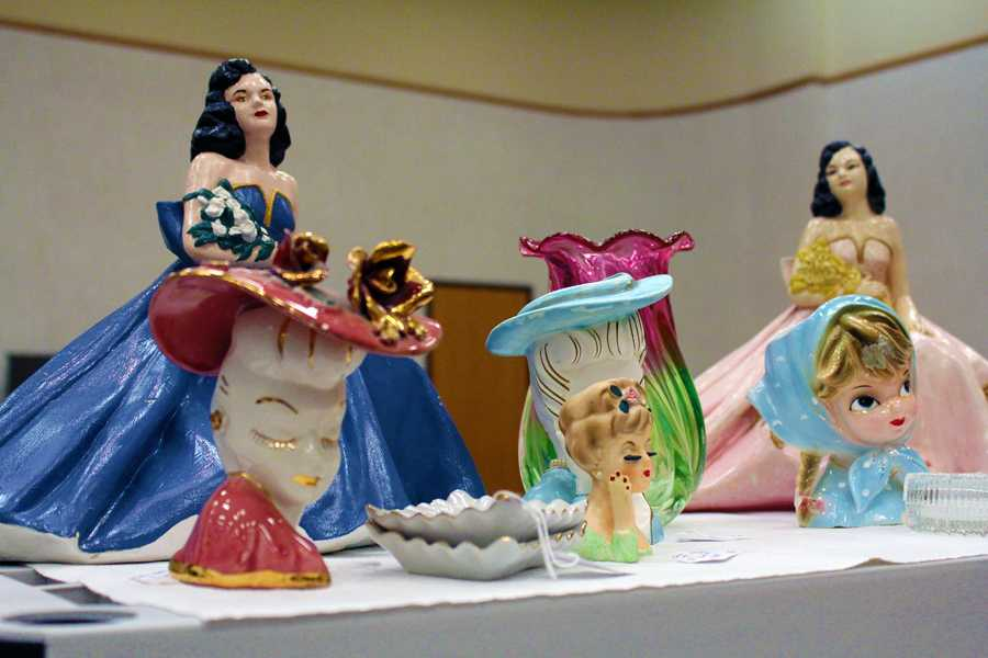 Antique handmade and hand painted figurines