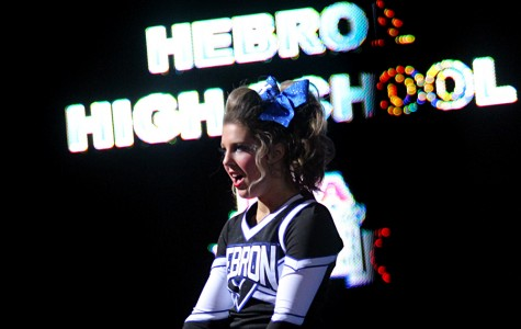 Sophomore Brittney Baker cheers at NCA nationals in January