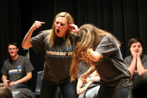 Photo Gallery: Wingin' it improv performance