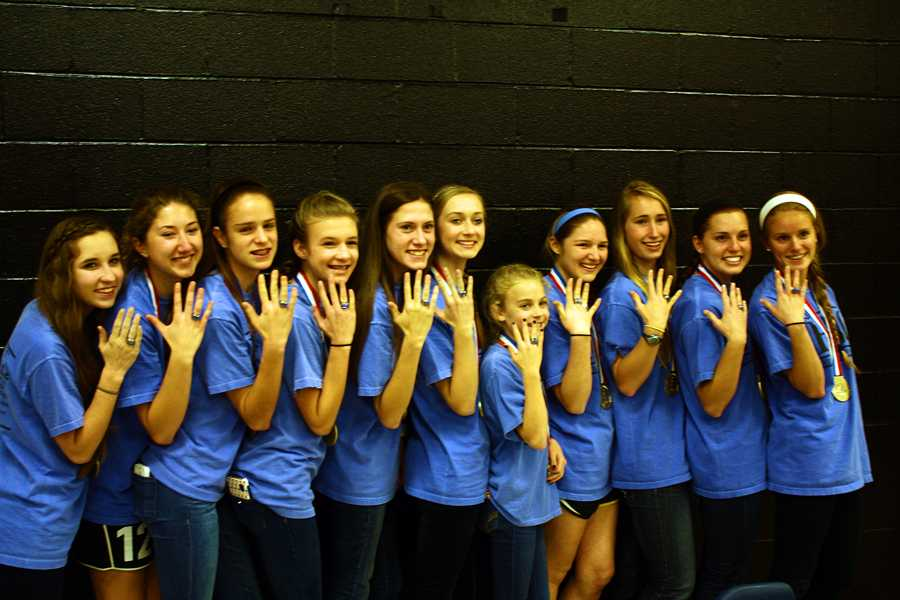 Cross Country receives state rings