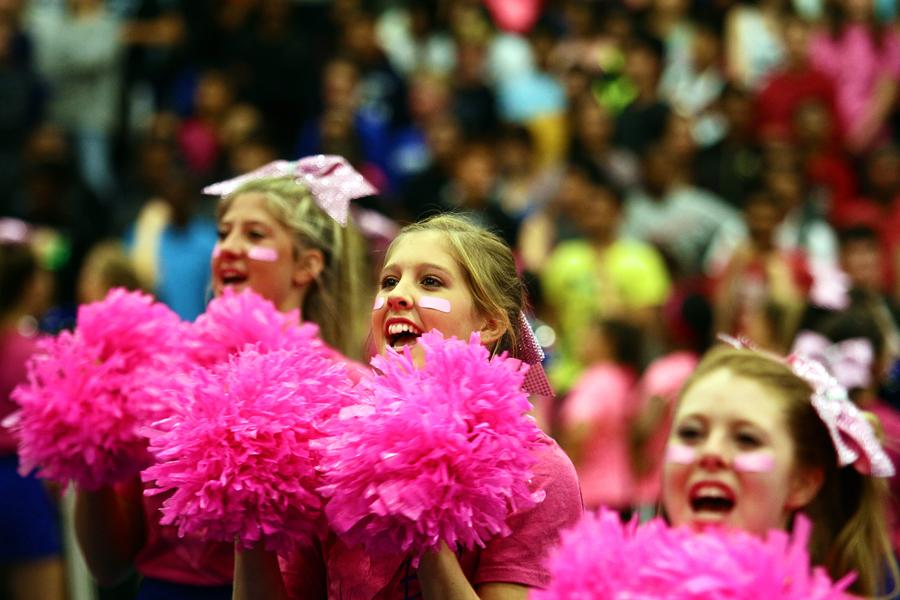 Photo Gallery: Big Blue Goes Pink Pep Rally