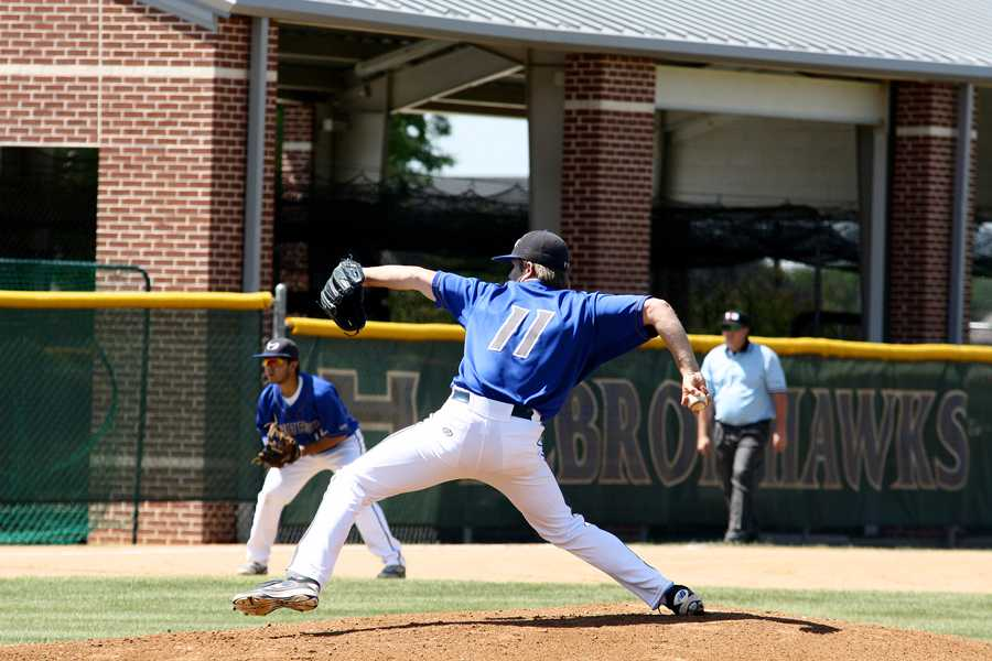 Junior pitcher Zach Deloach  took the mound for the Hawks in hopes of advancing the team to the area round.