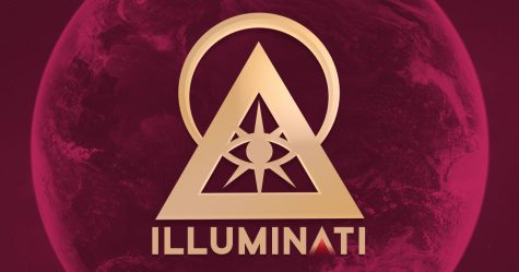 The well known symbol for the Illuminati.