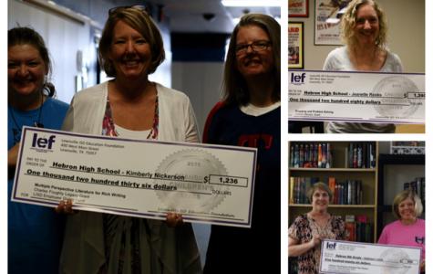 LEF grants awarded to three English teachers at Hebron