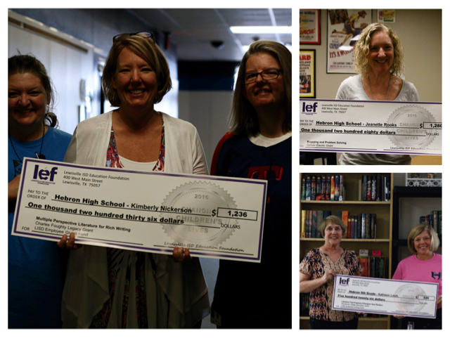 LEF grants awarded to three English teachers at Hebron