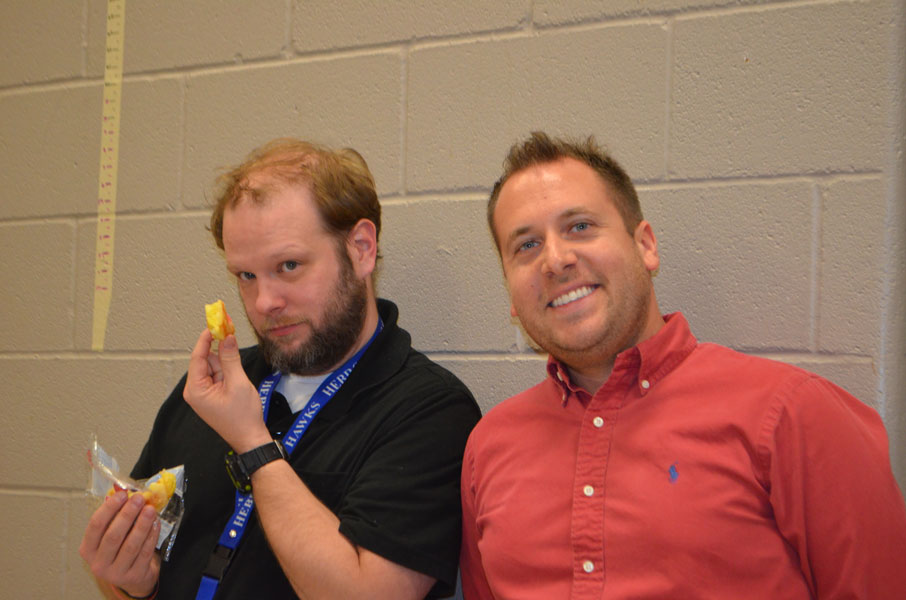 Mr. Heitzman and Mr. Broom pose for a picture.