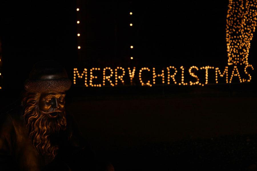 Holiday lights at Deerfield