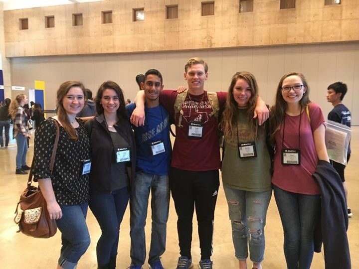 Some contestants who participated in TMEA ensembles pose for a photo at San Antonio. There were six choir ensembles and band members performed under the lead of new directors.