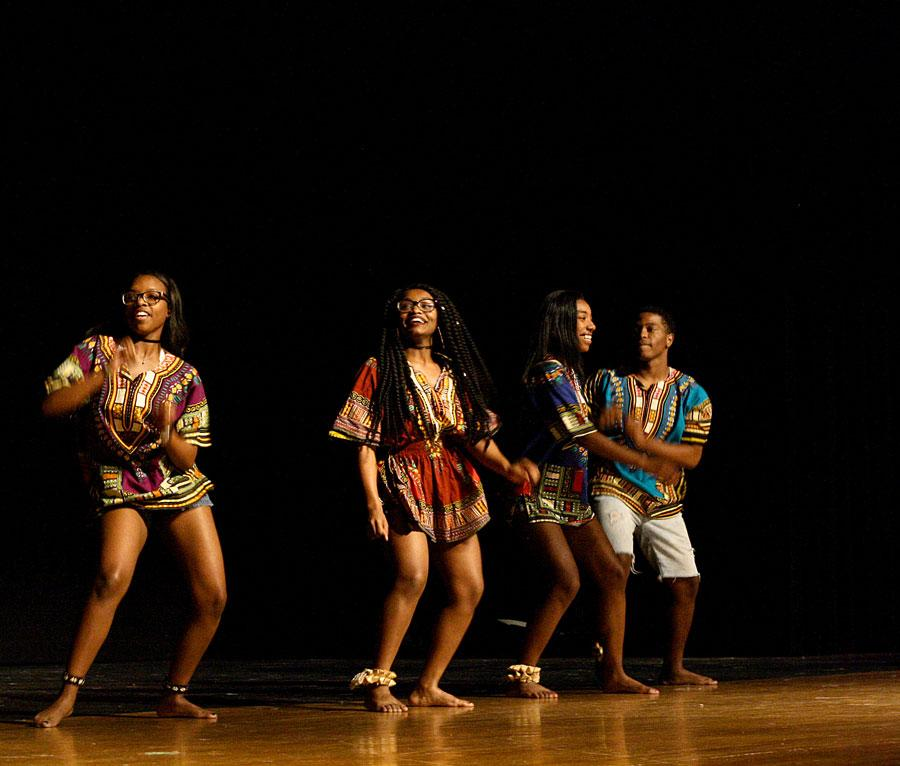 ShowTime performed an African themed dance. It as followed by performances of the Step Team, along with 80s and 90s themed dances.