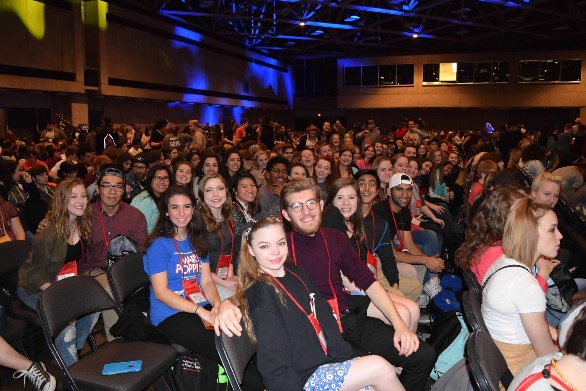 The Hebron theatre program when they went to the Texas State Thespian Convention last year.