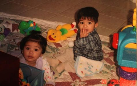 Yasmin and her twin brother, Sameer as babies.