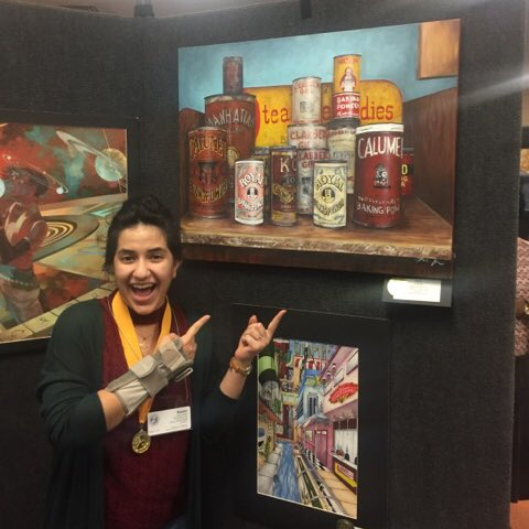 Senior Nasim Dalirifar won a gold seal at the VASE state competition.