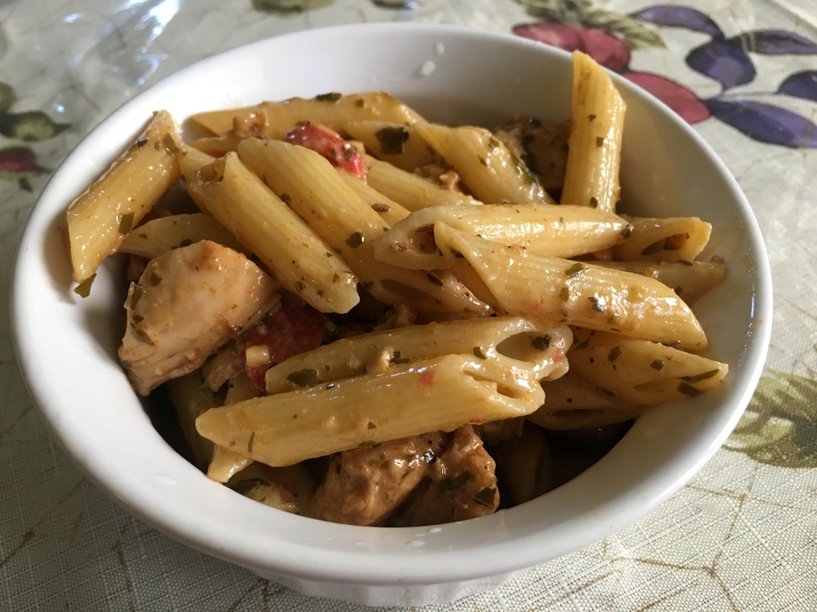 The+pasta+was+flavorful+despite+its+looks.+It+only+took+30+minutes+to+make+the+dish.