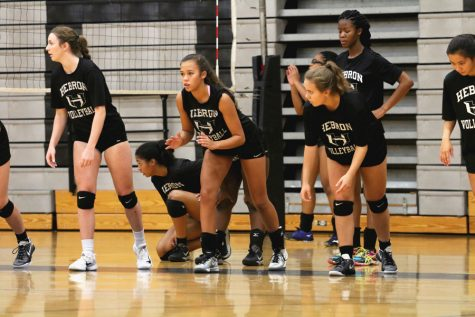 Volleyball team plays at Marcus Friday