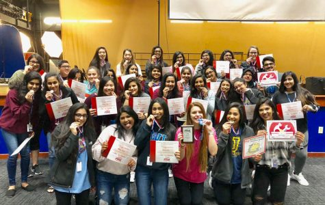 FCCLA poses for a picture with their medals. They competed in regionals on Feb. 23.