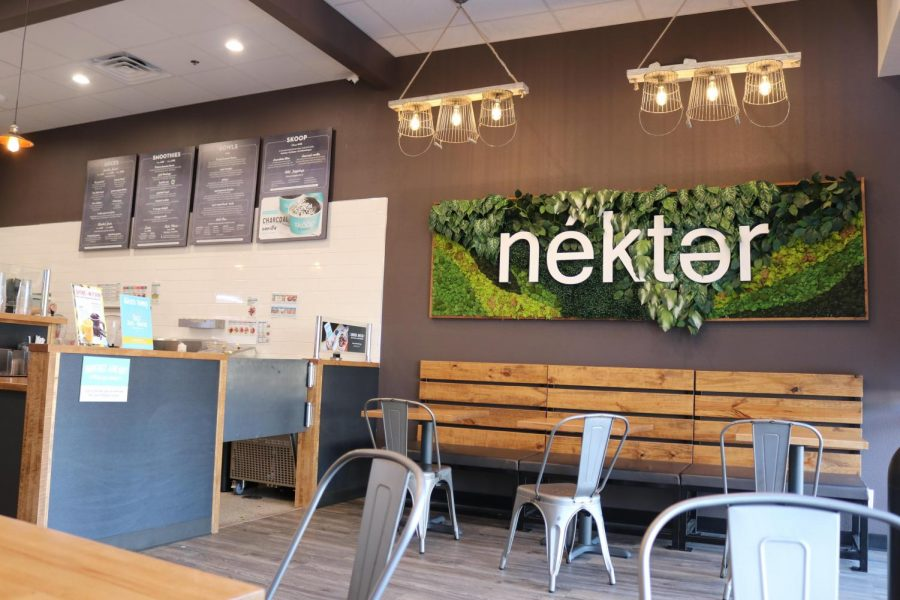 The interior of Nekter.