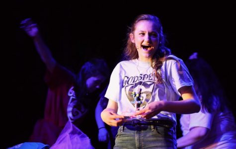 Senior Addie Thrower performs in the play Godspell in the role Peggy and Joanne.