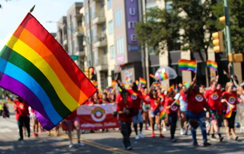 A flag waves to celebrate Gay Pride weekend. Gay Pride took place on Sept. 15 and 16.