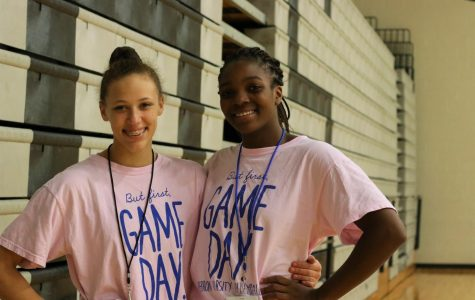 Two varsity volleyball freshman prepare for playoffs
