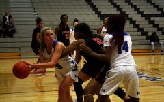 Senior Kylie Koster steals the ball from a player from The North Garland.