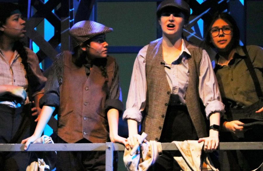 Newsies+perform+%22Carrying+the+Banner.%22+