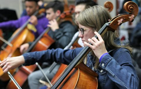 Sophomore Marianna Rooks practices for the UIL contest. The annual UIL contest is Feb. 28 - March 1.