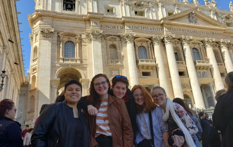 Latin students together in Vatican City.