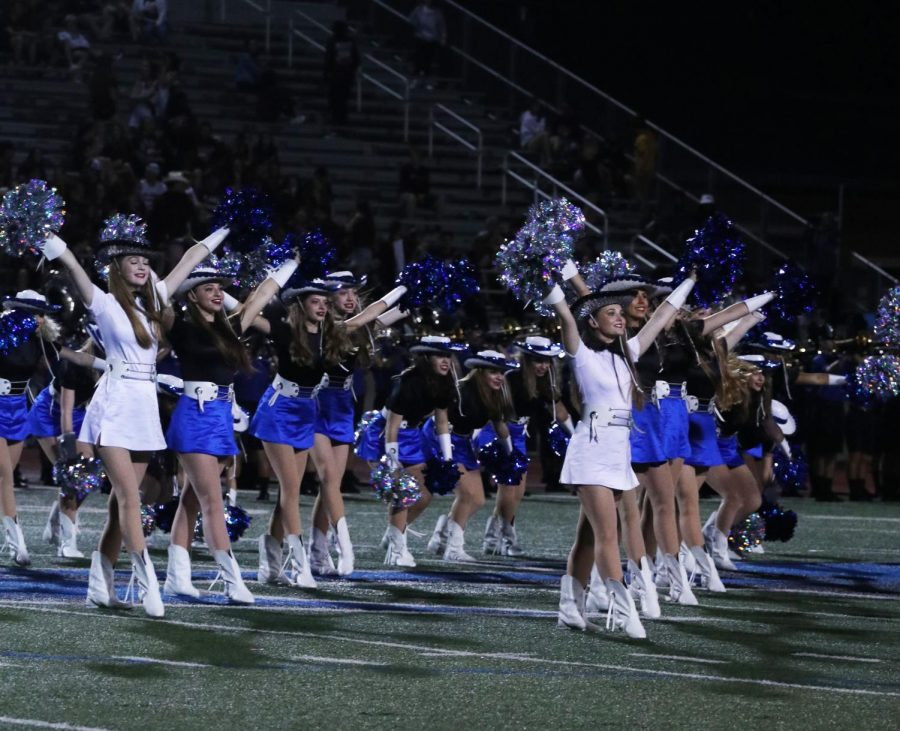 The Silver Wings perform at halftime during the football game against Plano on Aug. 30. They will be hosting a babysitting event on September 14 at the main campus.