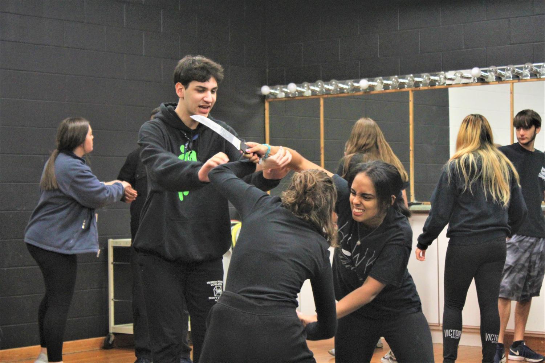 Sophomore Melat Woldu practices scene 1 of