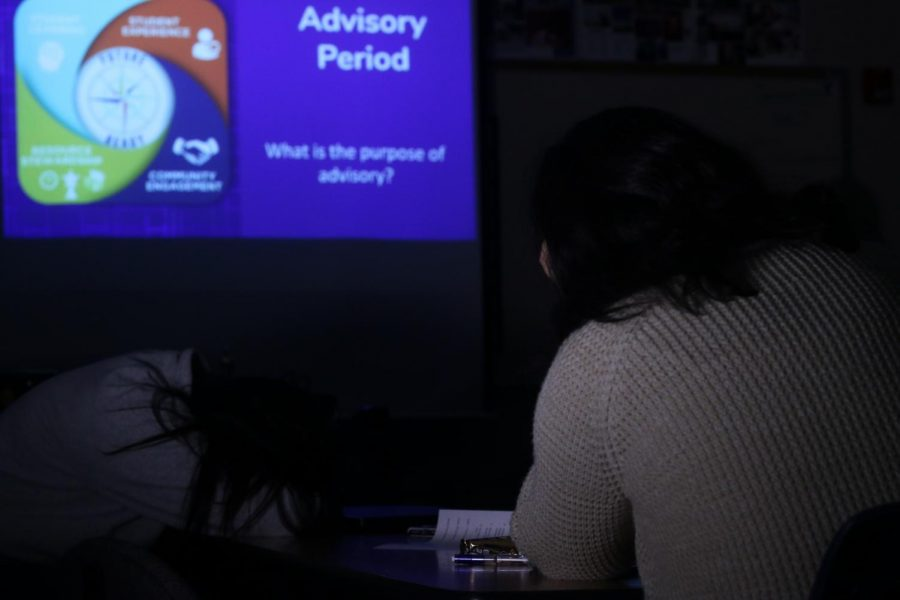 Despite good intentions , advisory's forced lesson lead to disengagement in some classrooms. In a poll of 100 students, 86% said they believe their advisory is not accomplishing its stated goal.