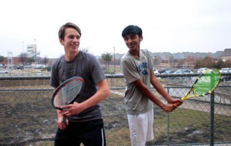 Juniors Rohan Agarwal and Robert Herrera pose for a photo.