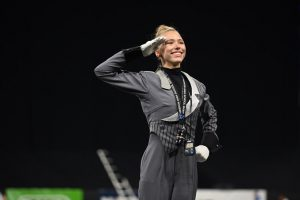 """Although she was initially just excited to be there, senior Abby Rieger was grateful that she chose to be a part of Santa Clara Vanguard Drum and Bugle Corps after attending the audition camps. """"The organization is truly like a family,"""" Rieger said. """"Whether that means being great friends, holding each other accountable, being there for emotional support, pushing each other to be better all the time or whatever other positive aspect a family could bring to your life."""""""