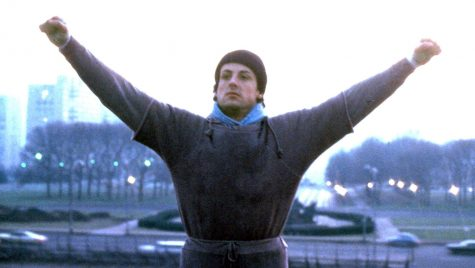 Scene from the first of many Rocky movies. Rocky remains one of the best fighting movies of all time.