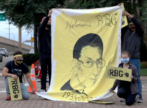 Photo Gallery: Rally to honor Ruth Bader Ginsburg held in Dallas