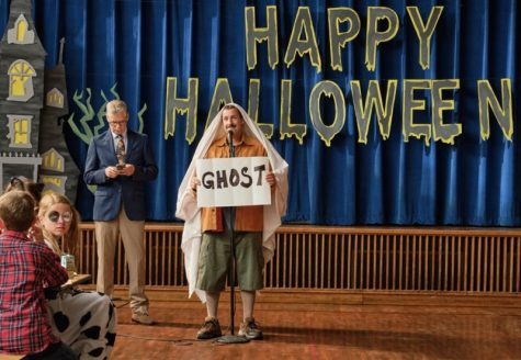 Main character Hubie Dubois (Adam Sandler) gives a presentation to kids at Salem Elementary about Halloween Safety. His usual concerns for Halloween night consist of kids getting scared or taking too much candy, but just a few hours after this presentation, Dubois would encounter a real catastrophe.