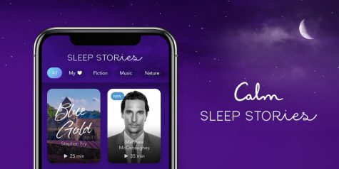 The Calm app offers guided meditation and sleep stories.