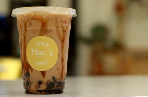 A Classic Pearl Milk Tea from Mac's Boba Cafe.