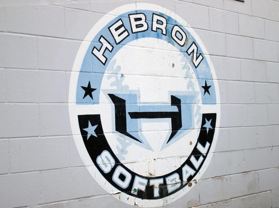 The Hebron softball team sign located by the field house.