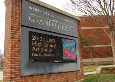 The LISD art show is at the MCL Grand on N. Charles St. The MCL Grand strongly encourages visitors to wear masks and reinforces six feet of social distancing.