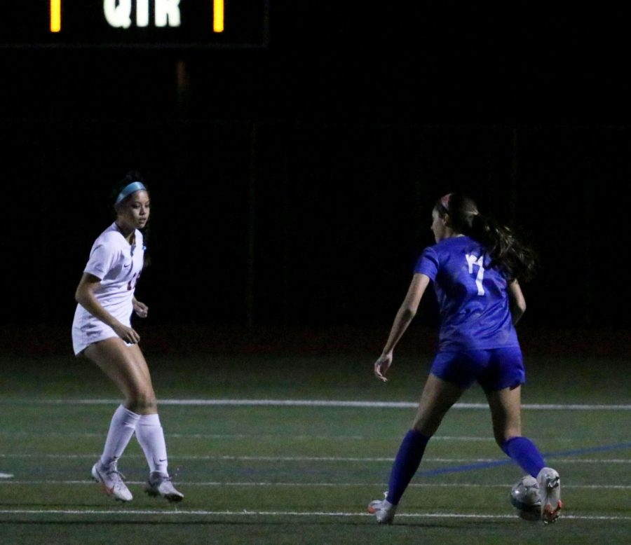 """Torres prepares to kick the ball toward the goal. Torres has a total of 17 points this season. """"In these 80 minutes, we are going to try to give you as much as we can,"""" Vaughn said. """"They are a good team and I felt encouraged by their determination in this game."""""""