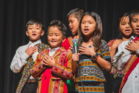 A group of Chin students performs at the annual Chin Cultural Festival in February 2020. Photo via LISD.