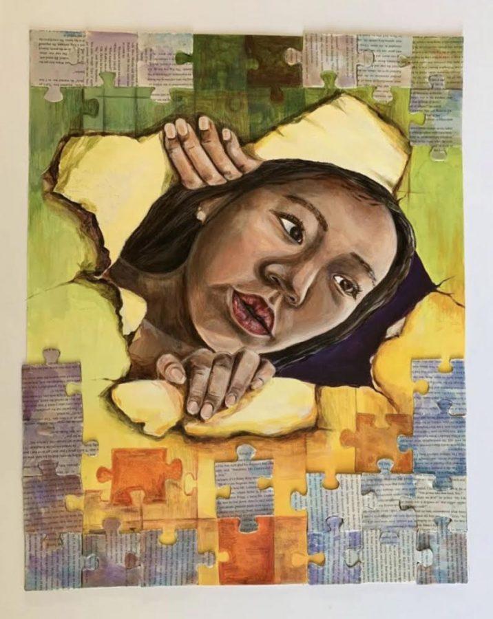 "Junior Ashley Chon's artwork ""Piece by Piece"""